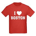 I Love Boston Kids Dark T-Shirt
