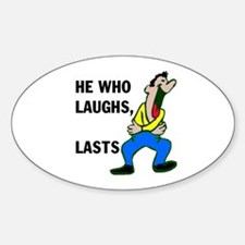 LAUGHTER Oval Decal