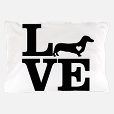 i love Dachshund Pillow Case