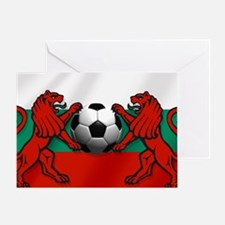 Bulgarian Soccer Flag Greeting Cards