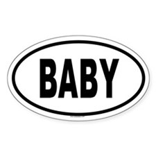 BABY Oval Decal