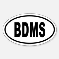 BDMS Oval Decal