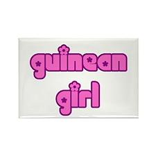 Guinean Girl Cute Rectangle Magnet