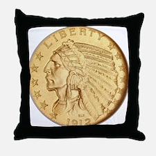 Funny Coin Throw Pillow