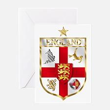 England Football Shield Greeting Cards
