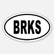 BRKS Oval Decal