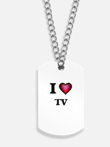 I love Tv Dog Tags