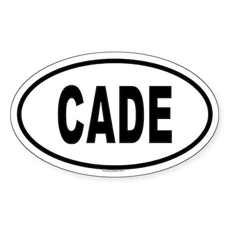 CADE Oval Sticker