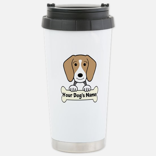 Personalized Beagle Stainless Steel Travel Mug