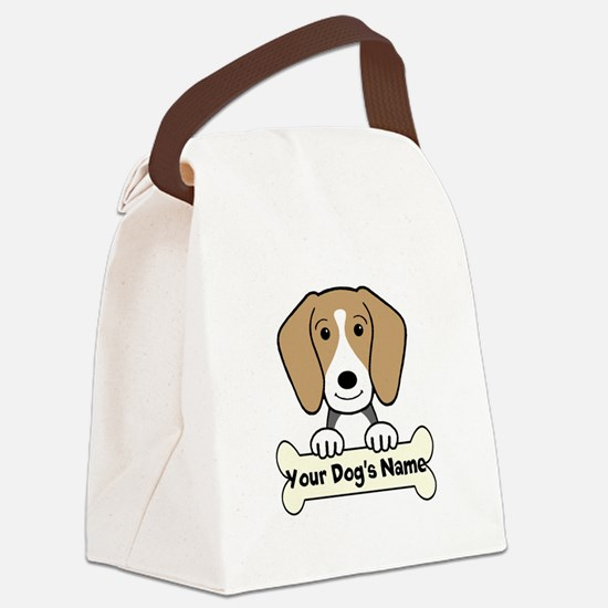 Personalized Beagle Canvas Lunch Bag