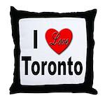 I Love Toronto Throw Pillow