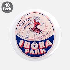 "Idora Park Skating 3.5"" Button (10 pack)"