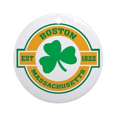 Boston Irish Ornament (Round)