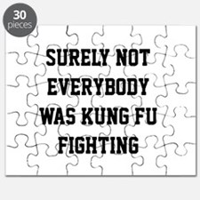 Surely not everybody was kung fu fighting Puzzle