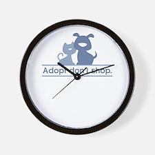adopt don't shop Wall Clock