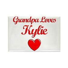 Grandpa Loves Kylie Rectangle Magnet