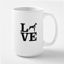 i love Doberman Mugs