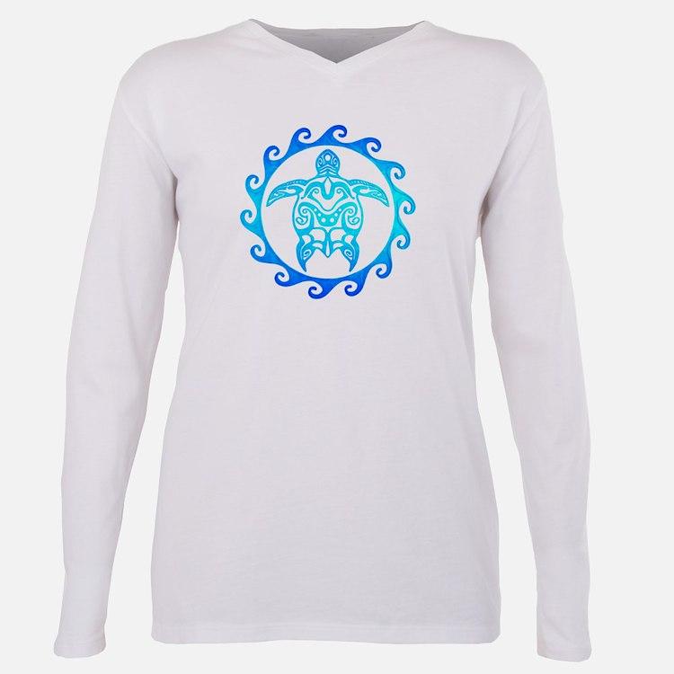 Maori design women 39 s plus size clothing plus size shirts for Turtle t shirts online