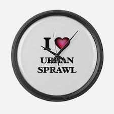 I love Urban Sprawl Large Wall Clock