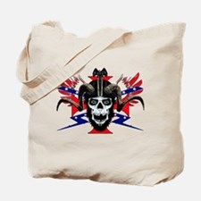 Ram skull rider Tote Bag