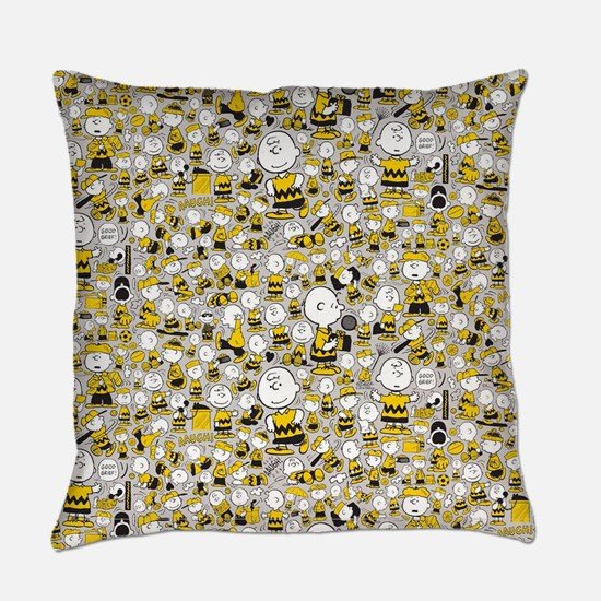 Peanuts Charlie Brown Collage Everyday Pillow