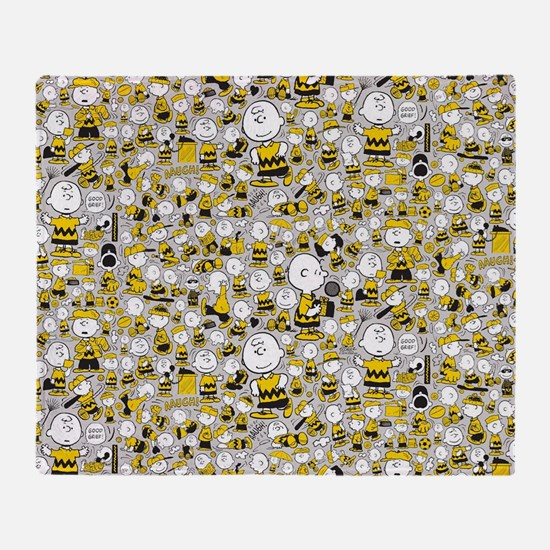 Peanuts Charlie Brown Collage Throw Blanket