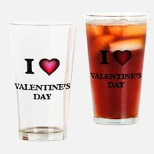 I love Valentine'S Day Drinking Glass