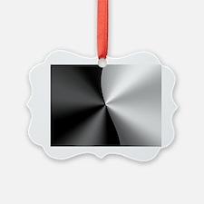 Black & Silver Modern Geometr Ornament