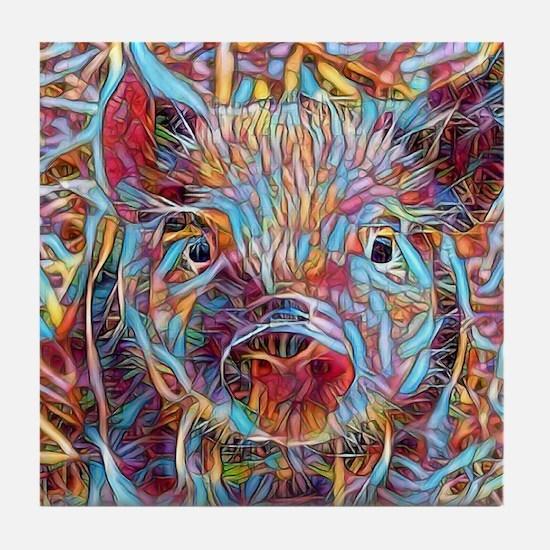 Cute Cute pig Tile Coaster