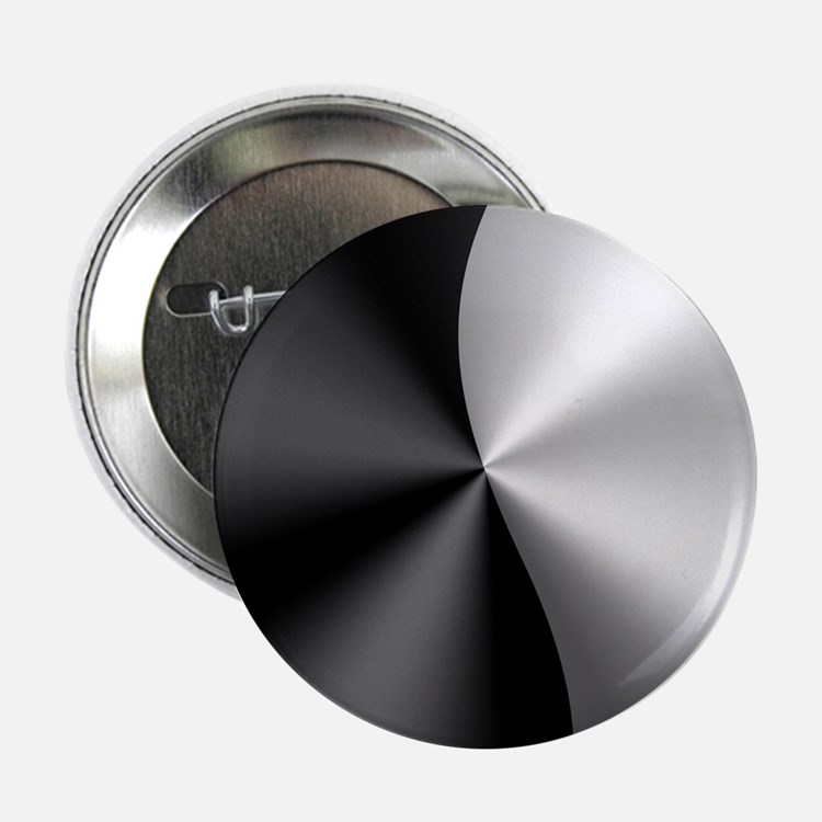 "Black & Silver Modern 2.25"" Button (100 pack)"
