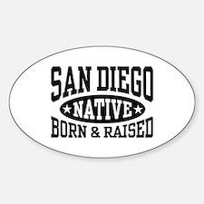 San Diego Native Sticker (Oval)