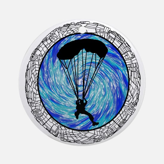 SKYDIVE Round Ornament