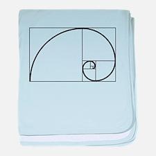 Fibonacci Spiral baby blanket