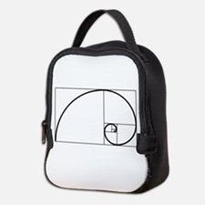 Fibonacci Spiral Neoprene Lunch Bag