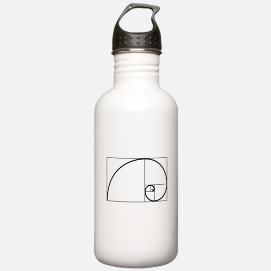 Fibonacci Spiral Water Bottle