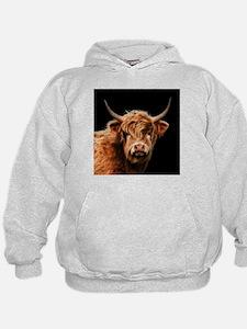 Highland Cow Portrait In Colour Sweatshirt