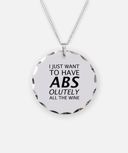 Absolutely All The Wine Necklace