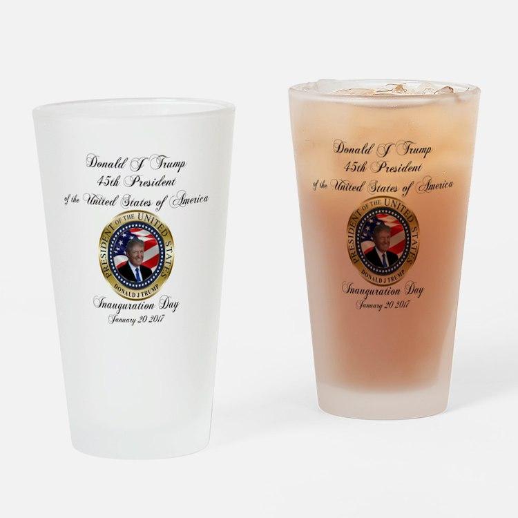 PRESIDENT TRUMP INAUGURATION | GetY Drinking Glass