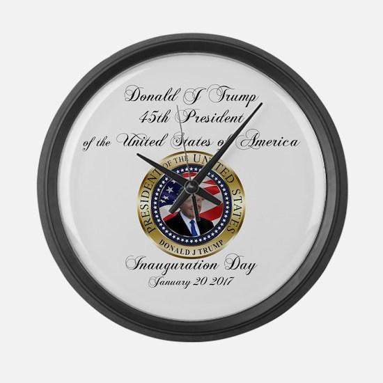 PRESIDENT TRUMP INAUGURATION | Ge Large Wall Clock