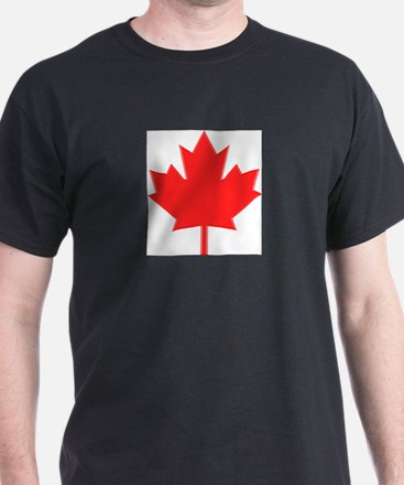 Big A** Maple Leaf Ash Grey T-Shirt