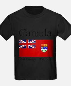 Canada-Red-WWII-WHITE T-Shirt