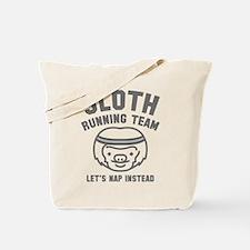 Sloth Running Team Tote Bag