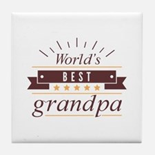 World's Best Grandpa Tile Coaster
