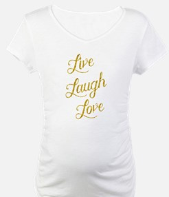 Live Laugh Love Gold Faux Foil G Shirt