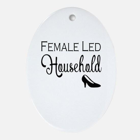 Female Led Household Oval Ornament