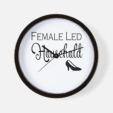 Female Led Household Wall Clock