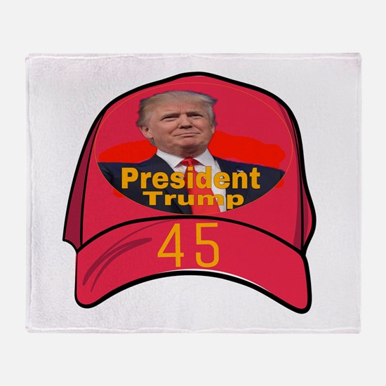 President Trump 45 Throw Blanket