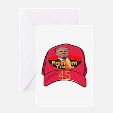President Trump 45 Greeting Cards