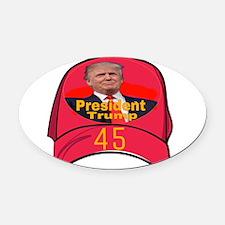 President Trump 45 Oval Car Magnet