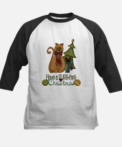 Kitty Purrfect Christmas Baseball Jersey